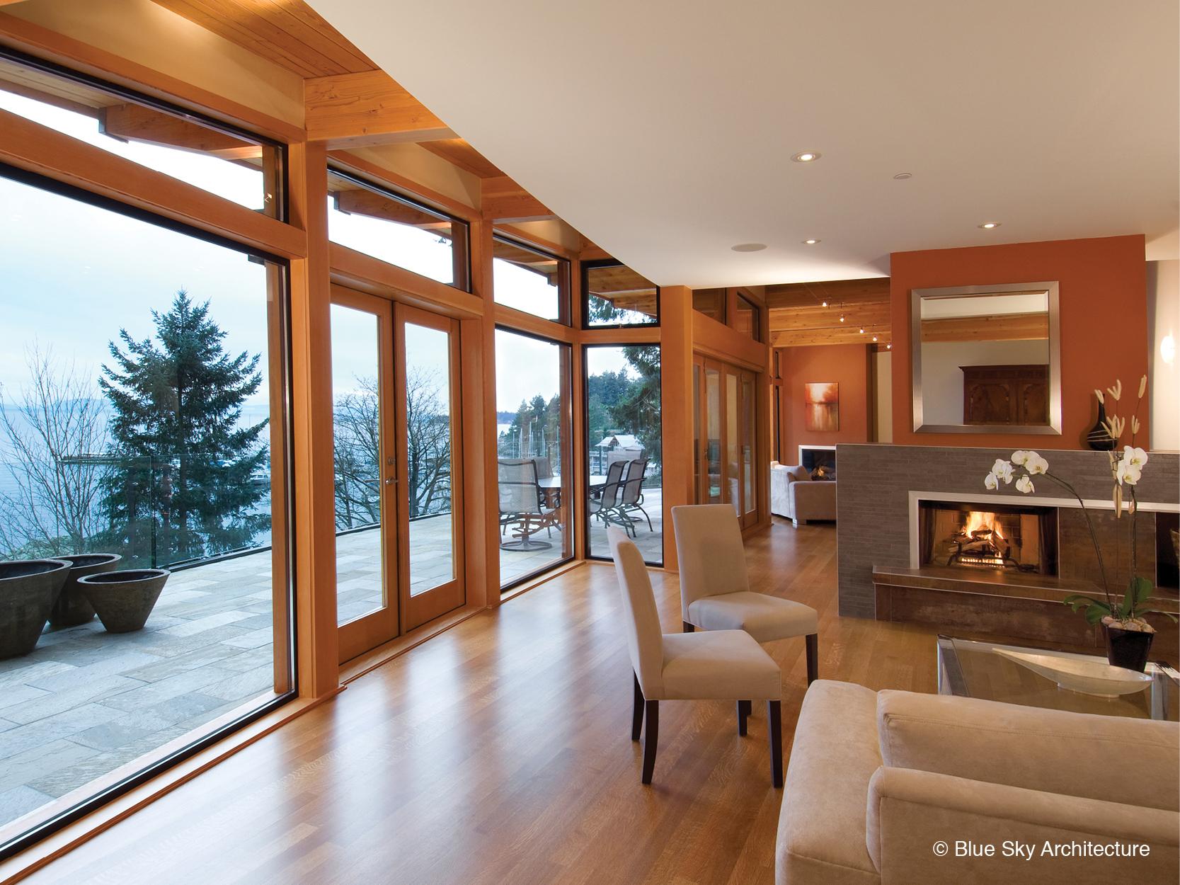 Modern organic living room in Harbour House