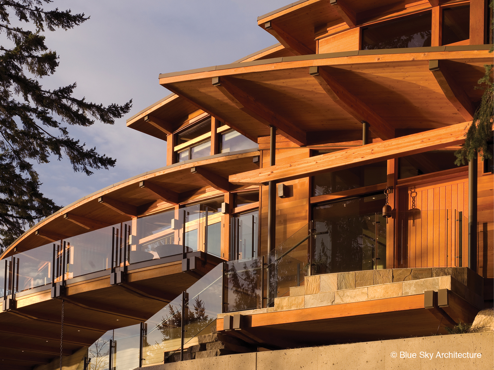 Organic modern architecture of Harbour House