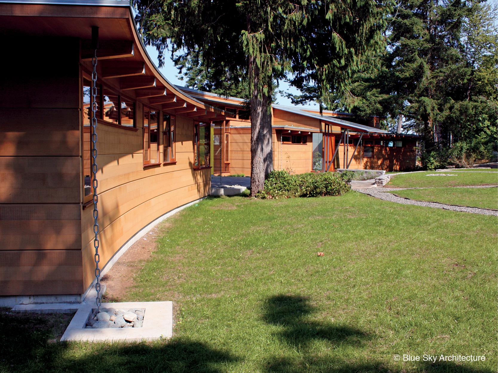 Modern wood siding on Miracle Beach House
