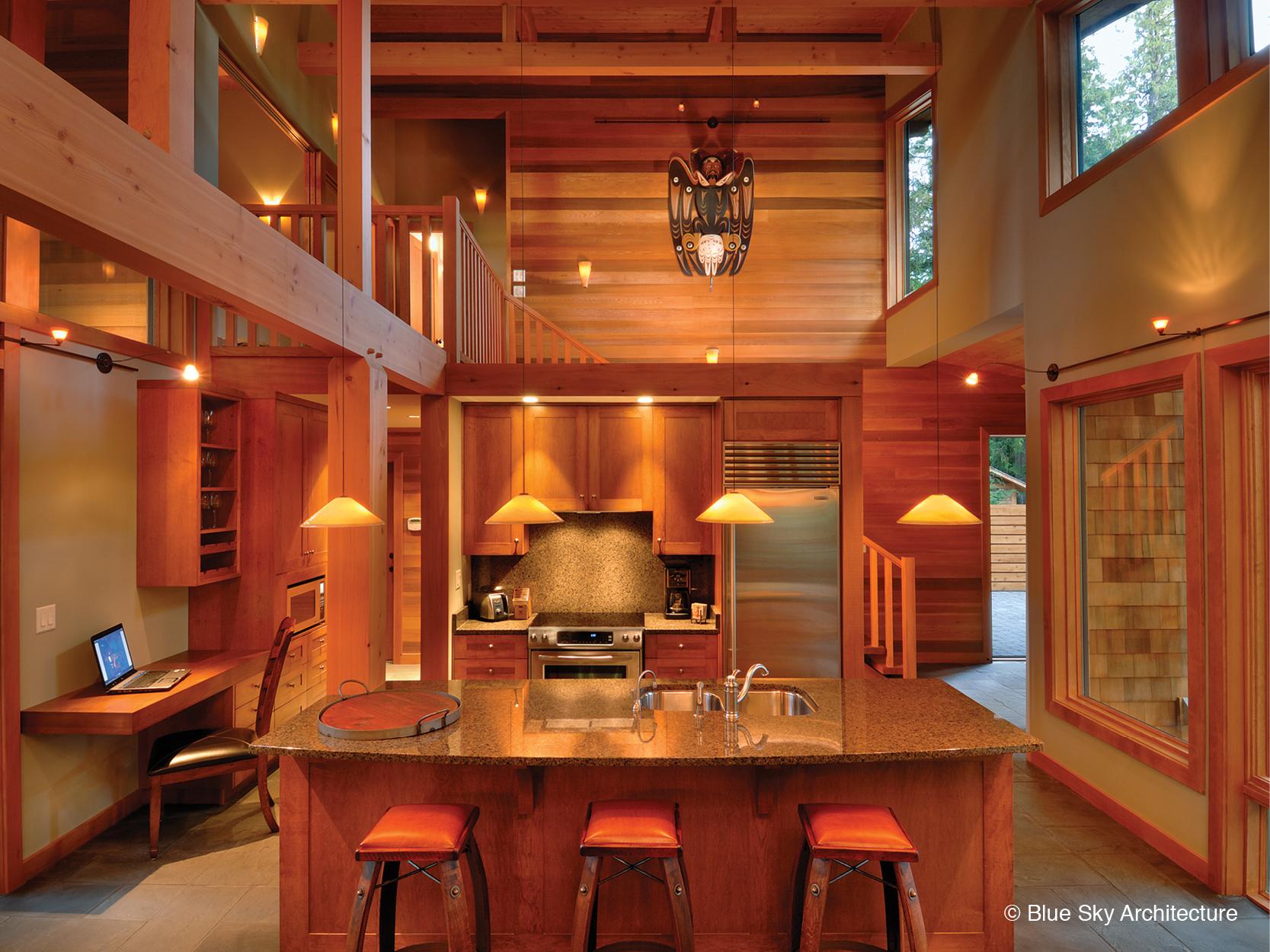 West Coast Modern kitchen