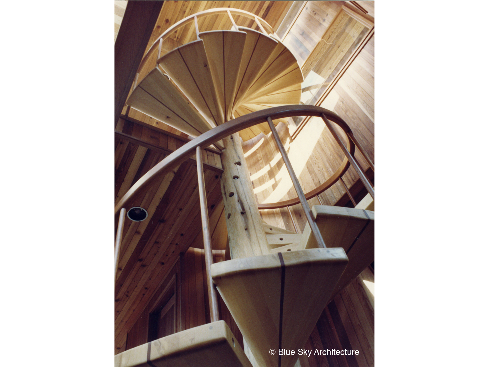 Custom Wood Spiral Staircase