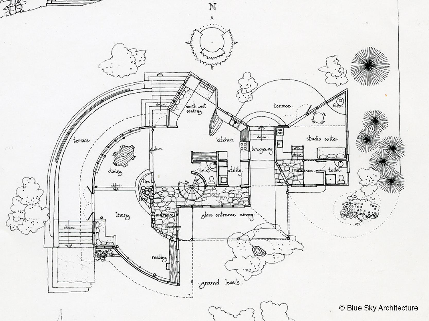 Bench Spiral House Floor Plan