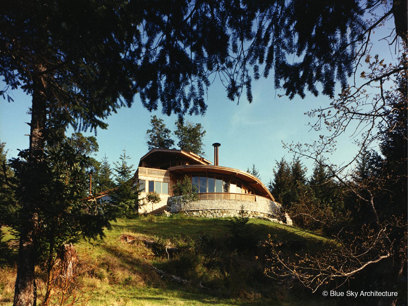 Custom House with Radial Terrace Design