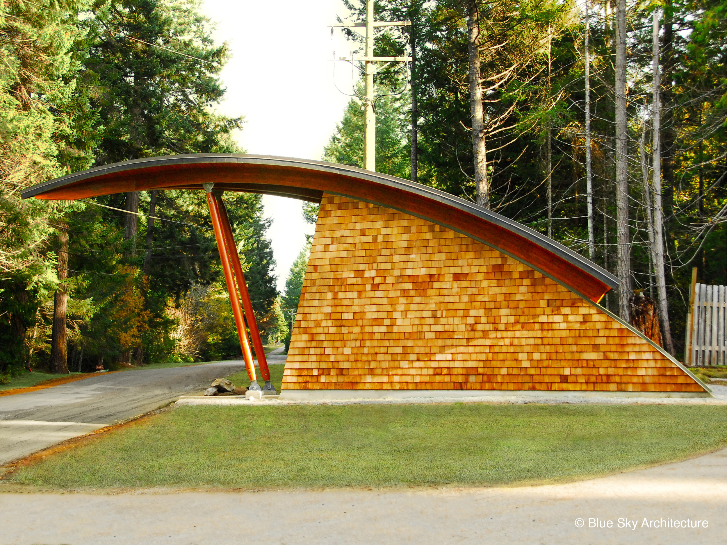Curved Organic Roof Heavy Timber Rafters