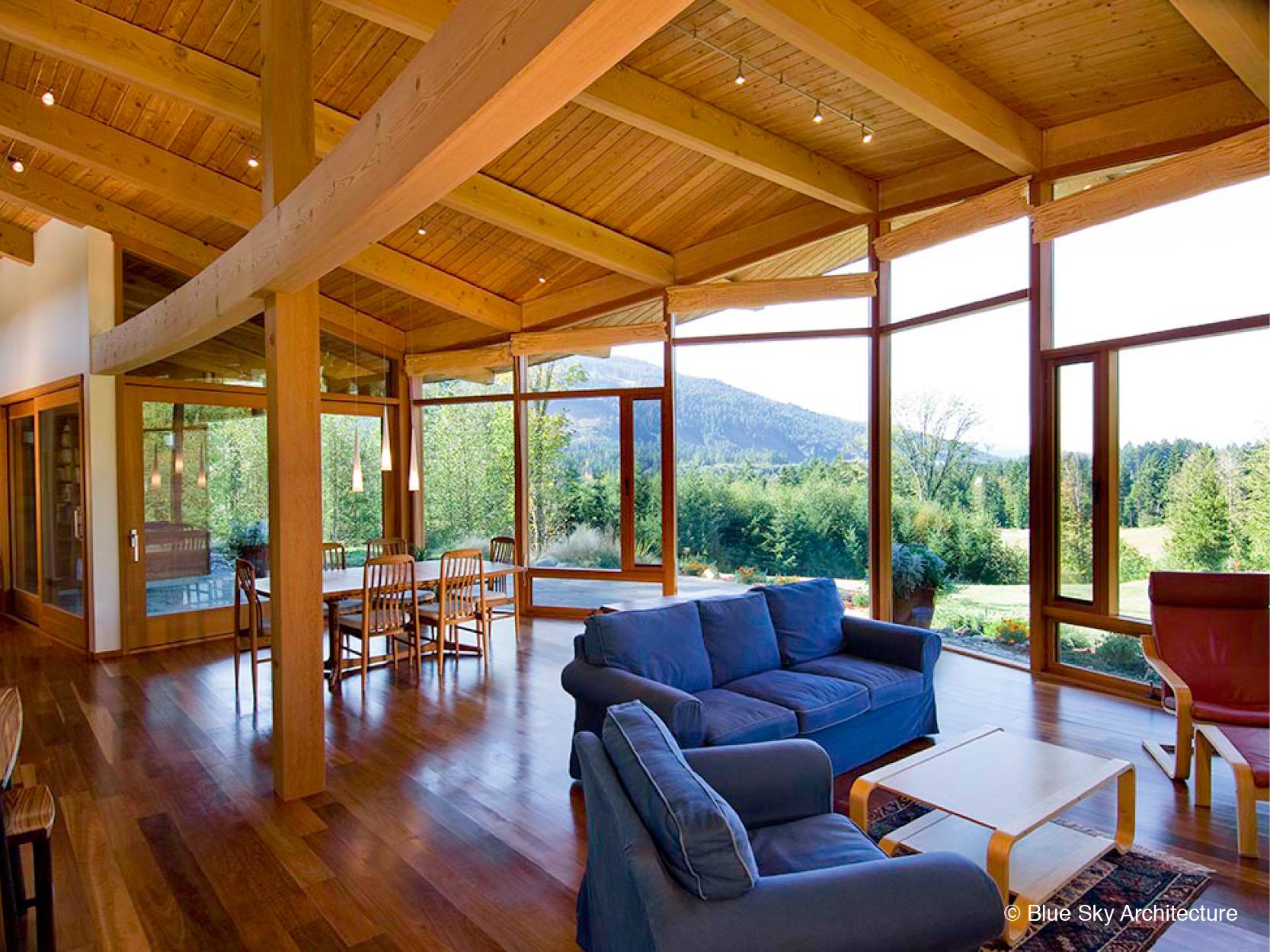 Livingroom with view big windows