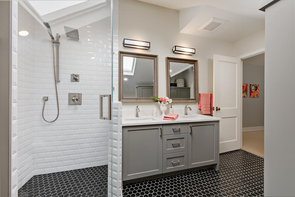 Vintage Style Bath Remodel   Marlo Creative Interiors   Calgary Interior Designer