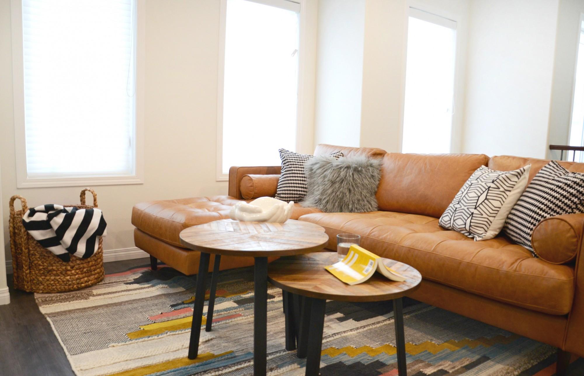 Earthy Modern Family Room | Marlo Creative Interiors | Calgary Interior Designer