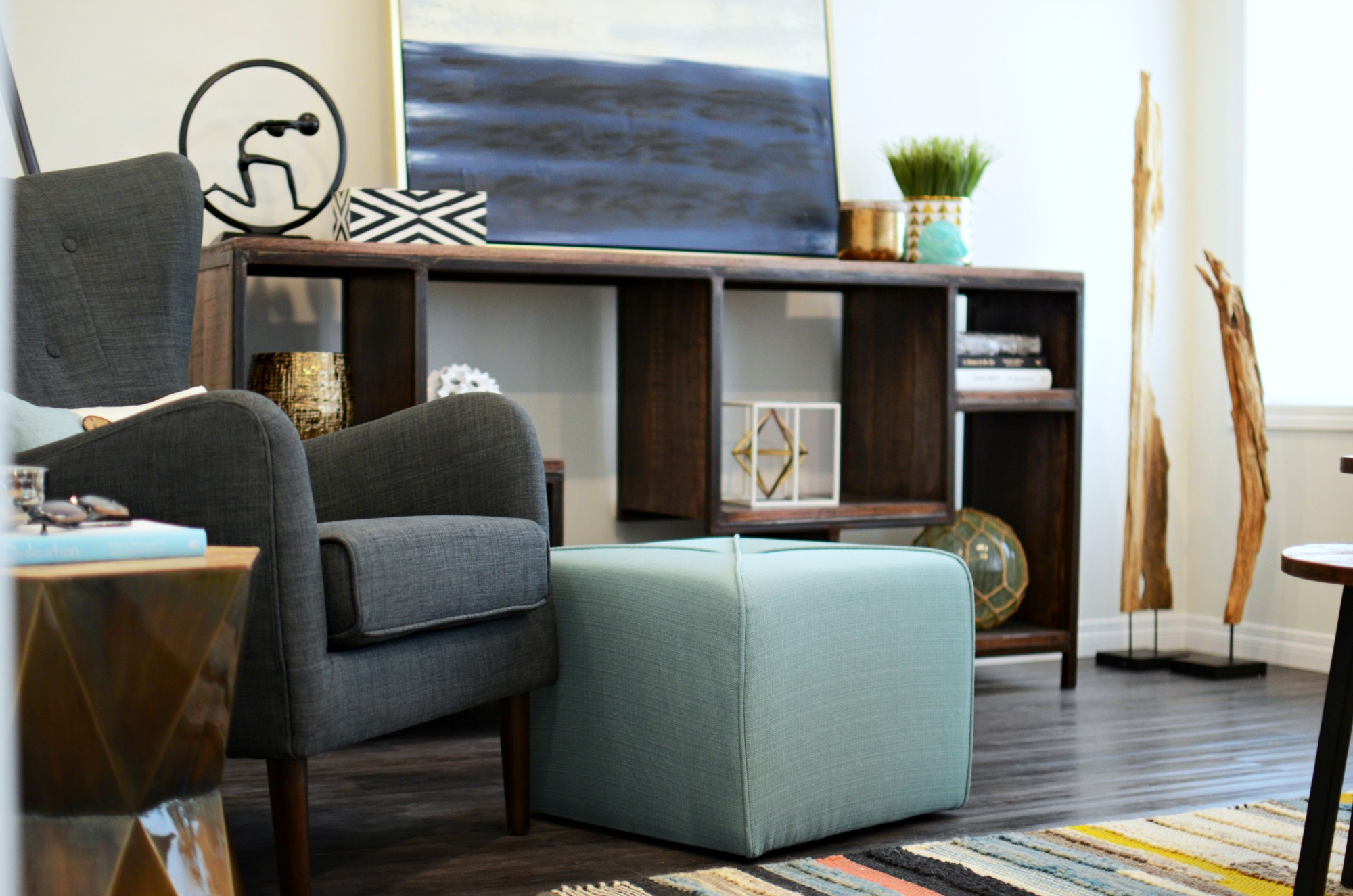 Earthy Eclectic Family Room | Marlo Creative Interiors | Calgary Interior Designer