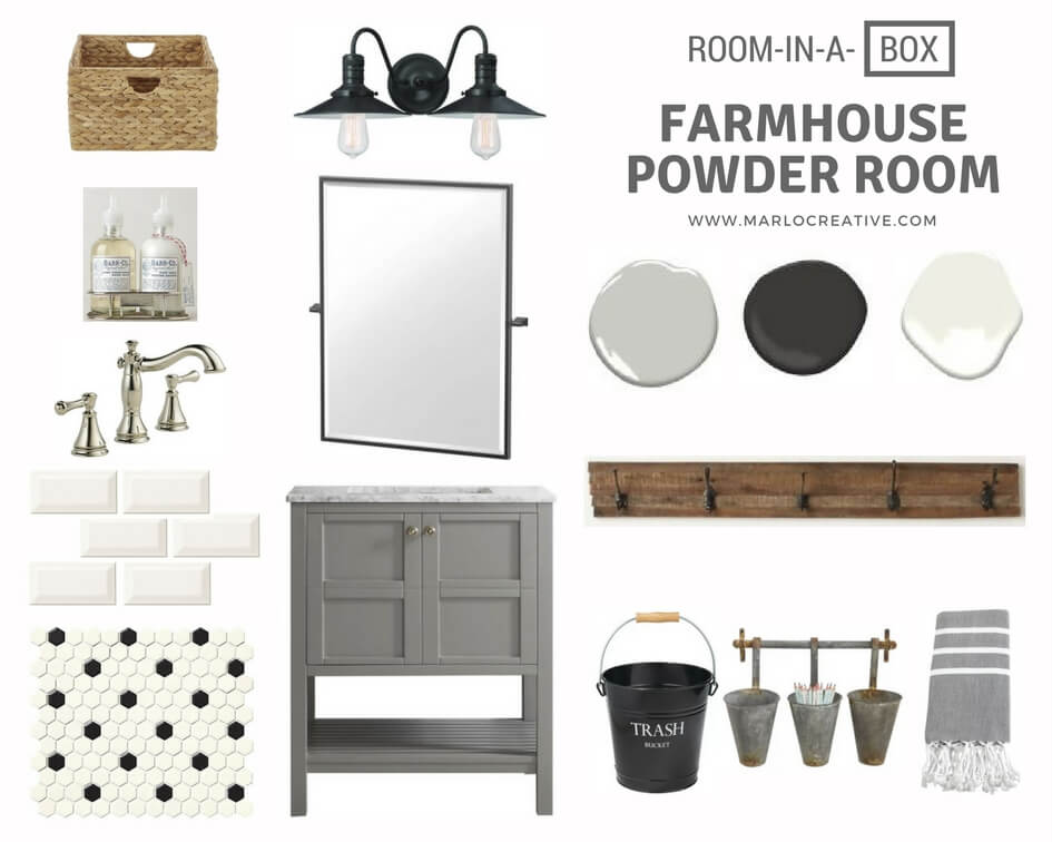 Farmhouse Powder Room