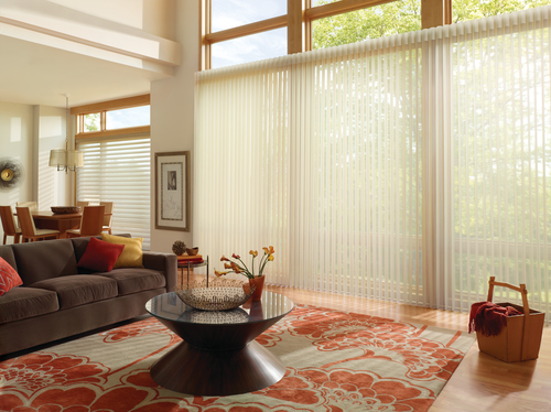Hunter Douglas Silhouette and Luminette window coverings