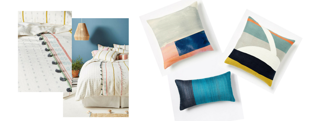 Duvet cover: Antrhopologie // Pillows: West Elm