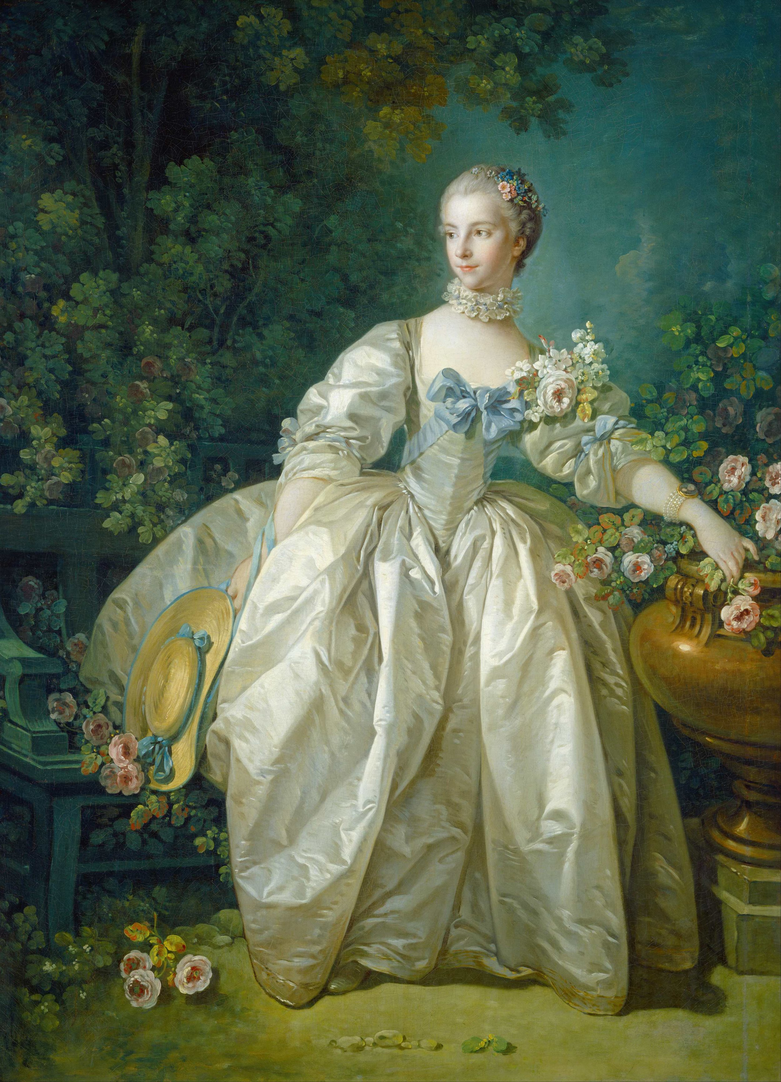 """""""Madame Bergeret holding a bergere hat"""" Painted by Francois Boucher, c 1766"""