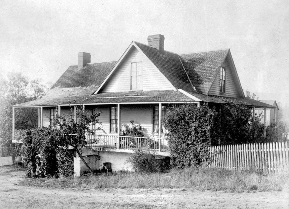 """Bannockburn, the William Thomson home in Central Saanich, originally """"South"""" Saanich. Photo dated 1887, and courtesy of  BC Archives."""