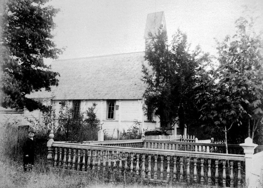 St. Stephen's Church, Saanichton. Photo courtesy of  BC Archives .