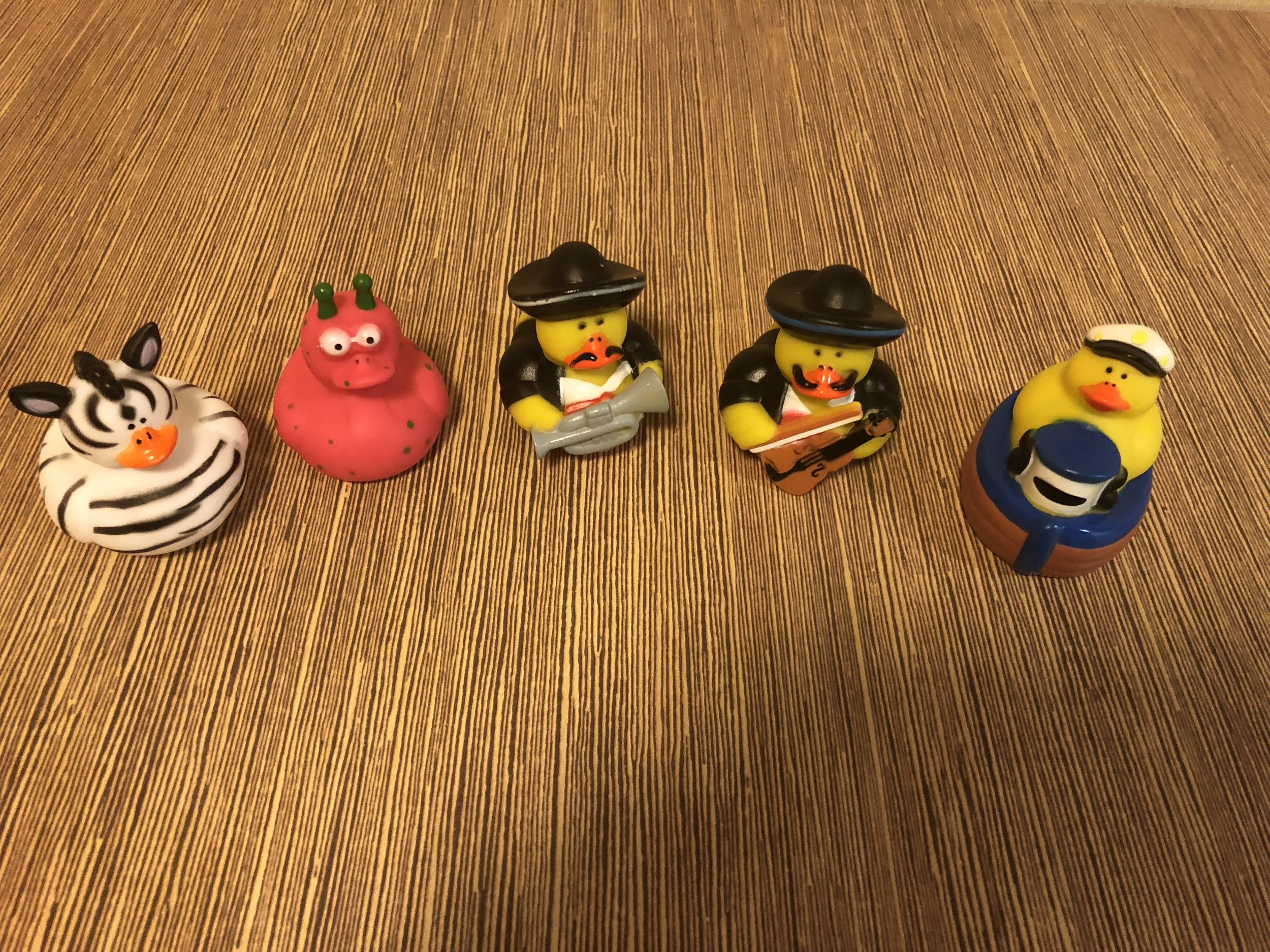 The Dream Team as Rubber Ducks: @ the Marriott Hotel