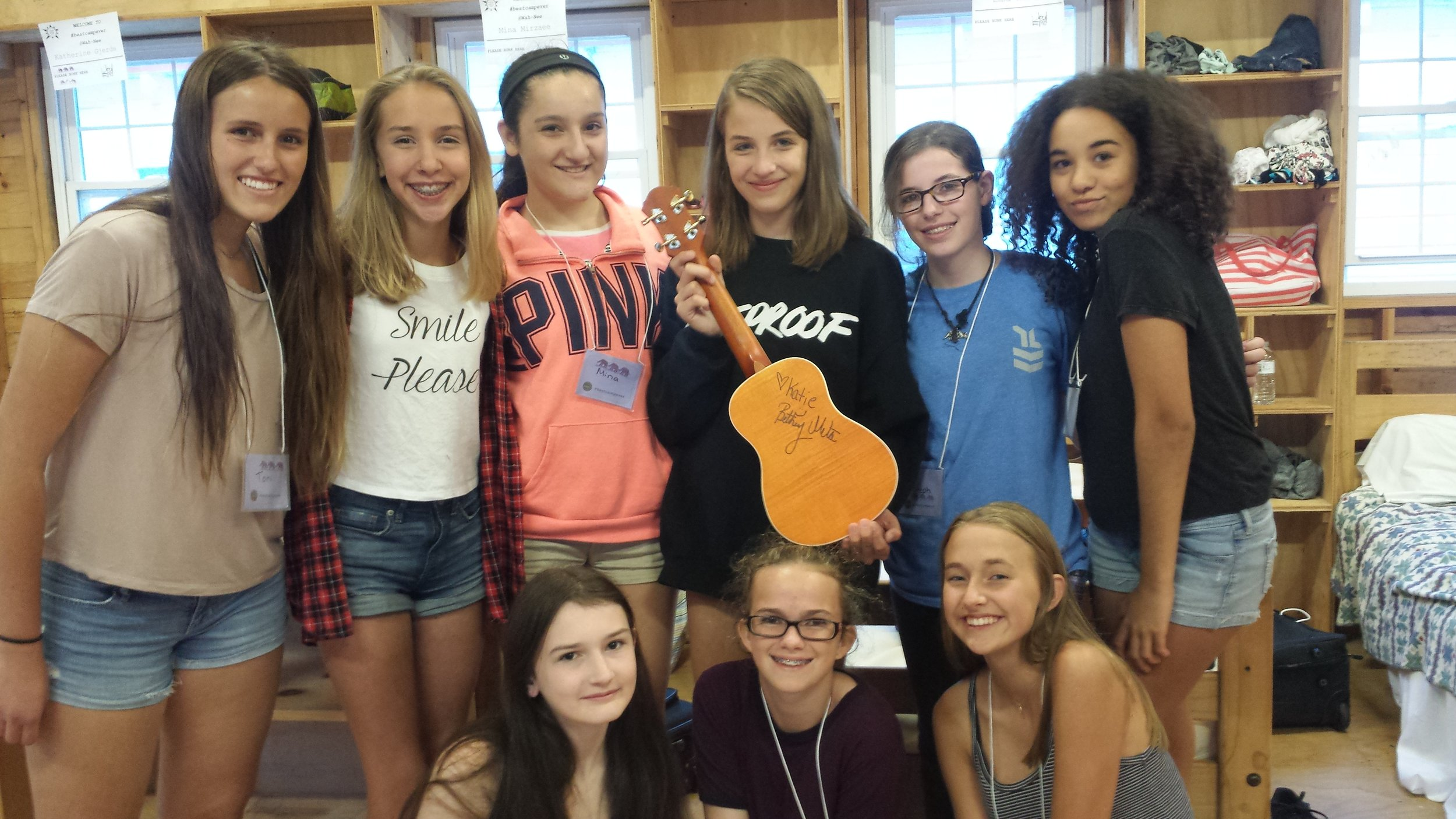 Some of my campers with the signed uke