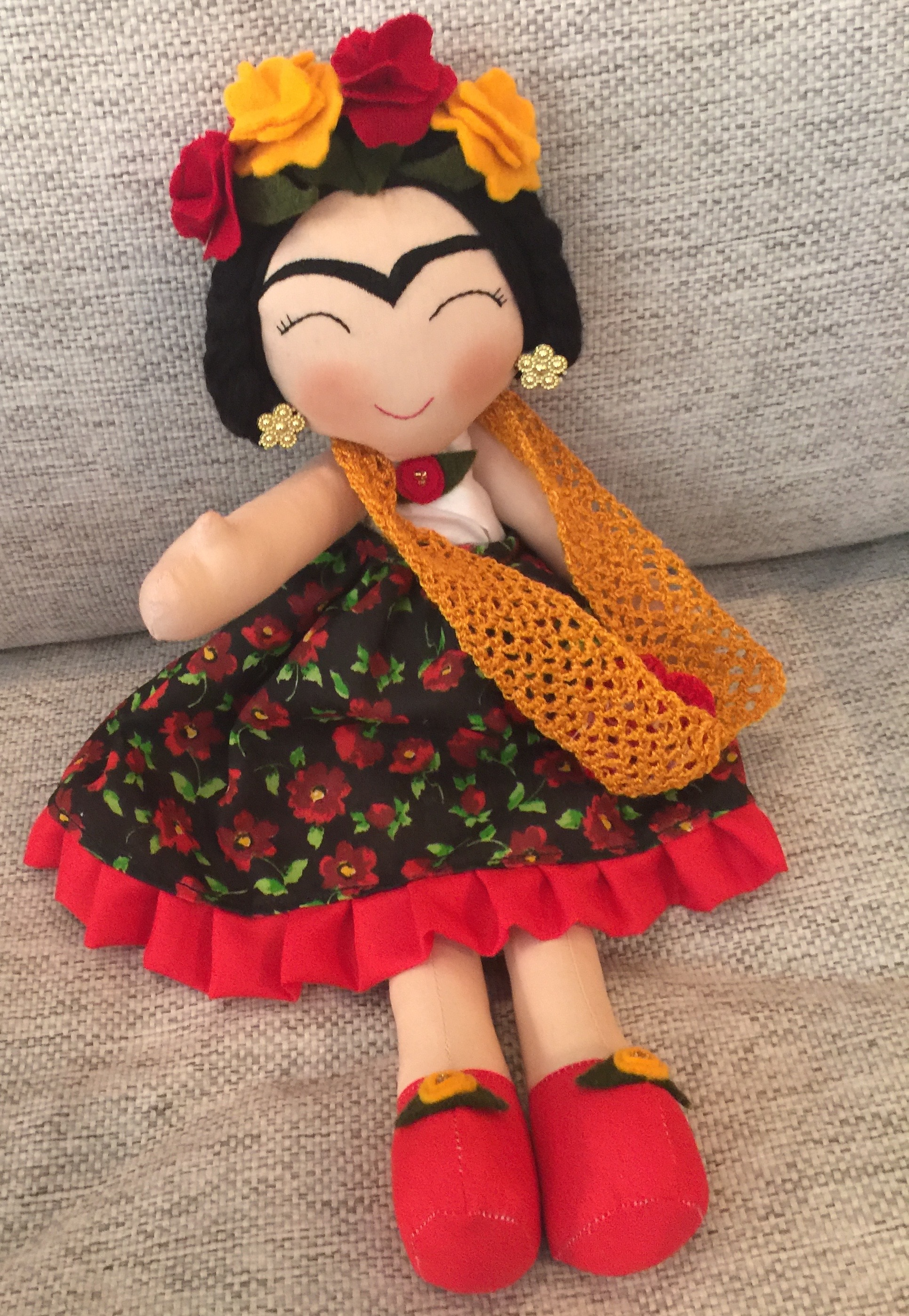 Found a little Frida at a cute shop that sold high end textiles from around Mexico. Pretty adorbs!