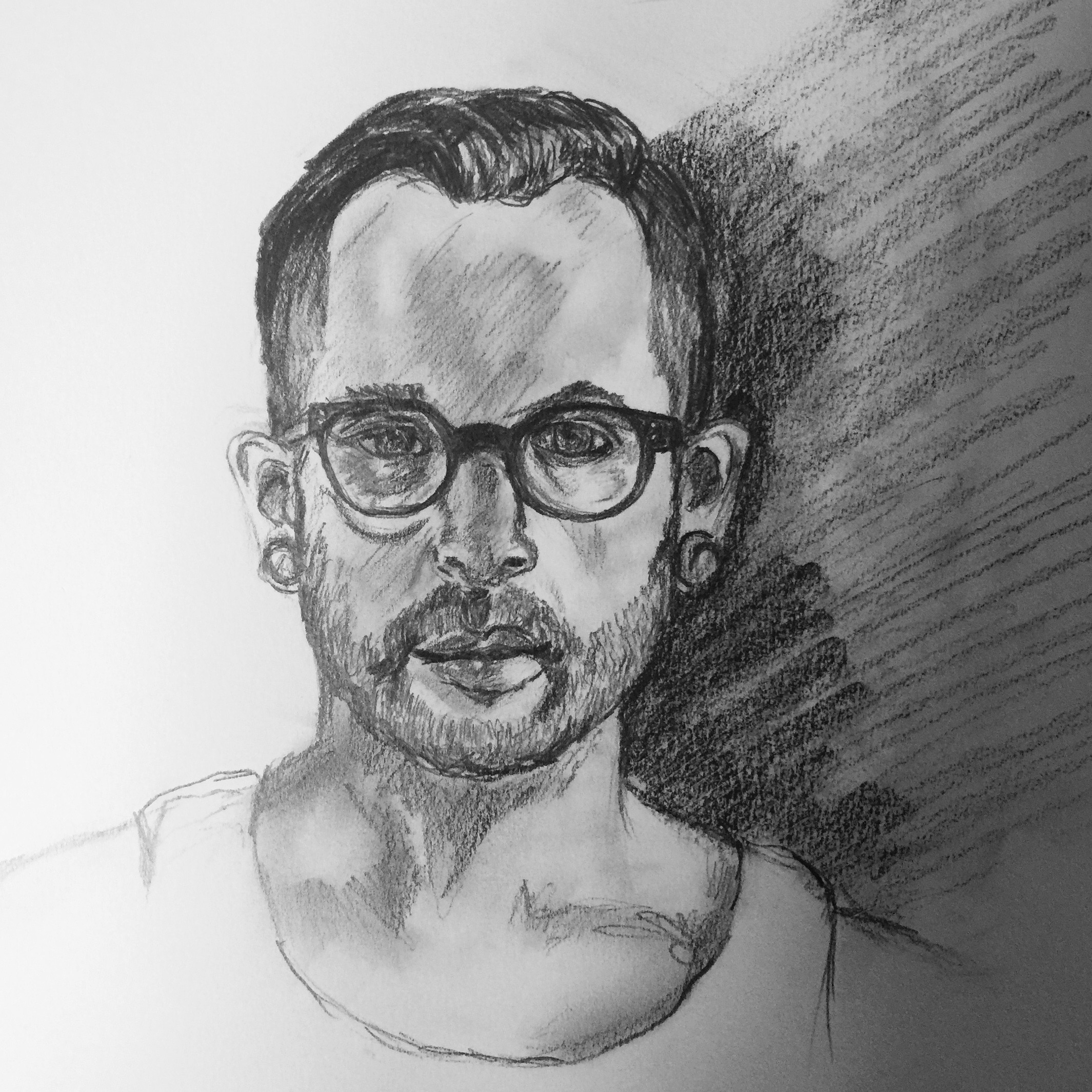 Here is the drawing mentioned above. It was my fiance who sat for me for a couple hours. Great model :)! So handsome!