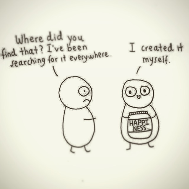 Happiness is created by you, but no one said you couldn't inspire happiness in others.