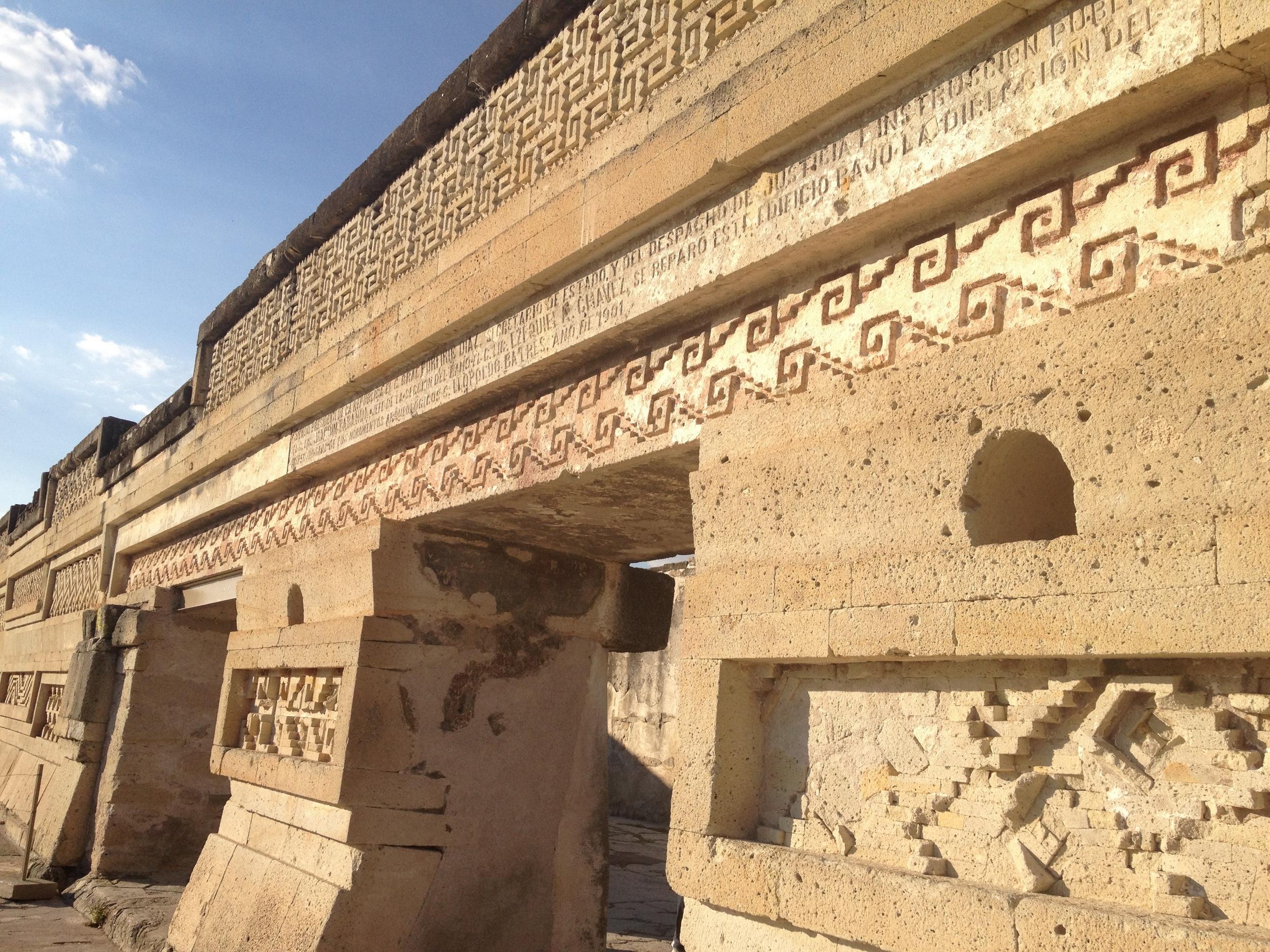 A Zapotec ruin near Oaxaca, haven't been to Giza yet;)
