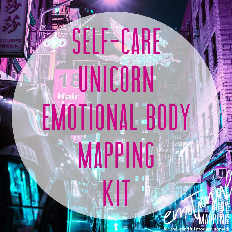 Self-care unicorn emotional body mapping kit