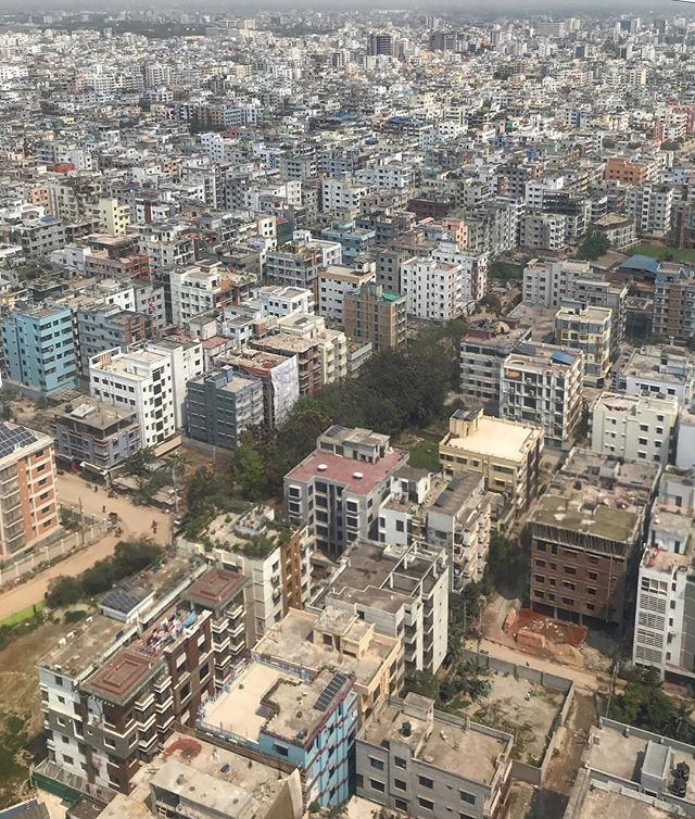 Dhaka is by far the most densely populated city on earth according to the World Economic Forum. Mumbai, India is a distant second on the list. . . .#dhaka #bangladesh #citylife #populationdensity #aerialphotography #windowseat #traveltheworld #wanderlust #kristofferglennimagery #kristofferpfalmer #pfalmer