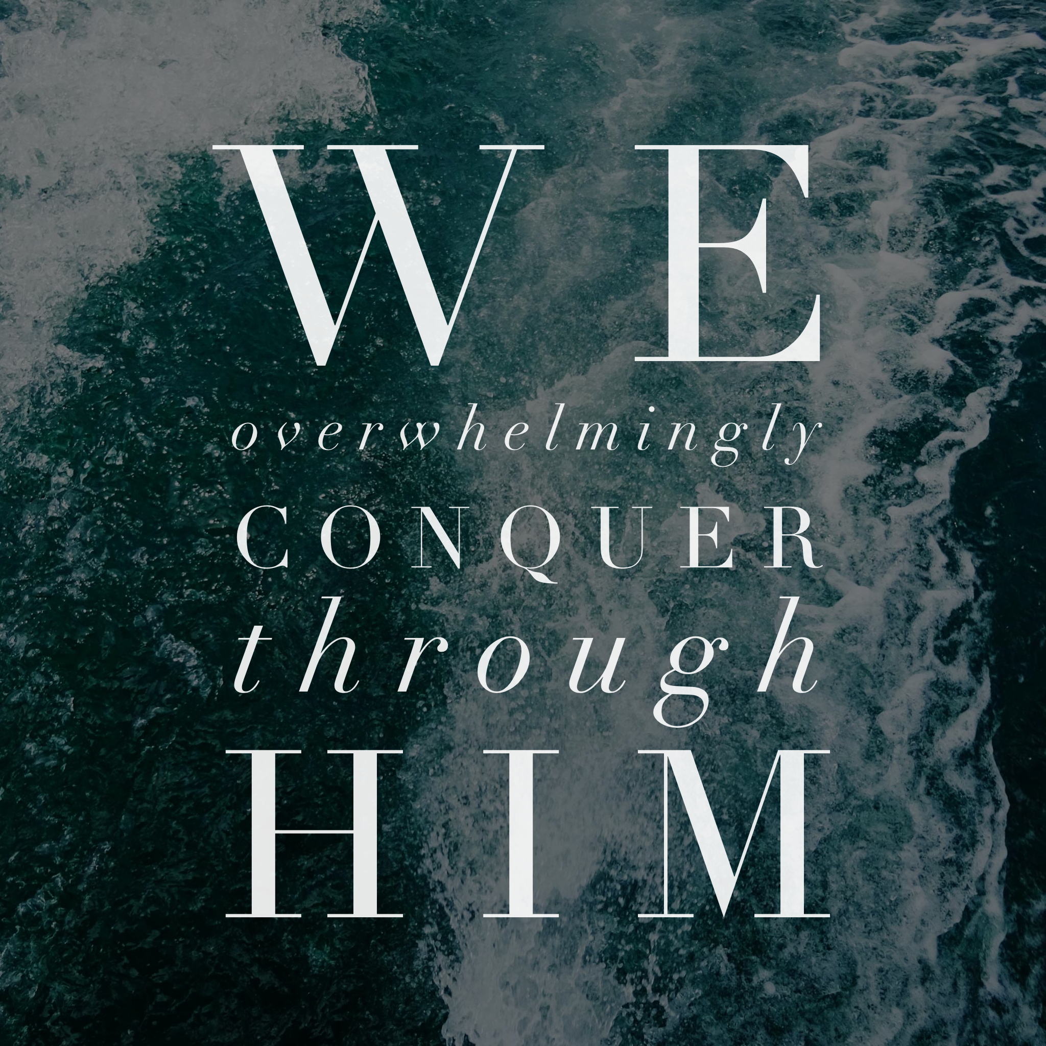 Through many anxious days it has reassured me of God's goodness and sovereignty - two attributes which remind me that nothing happens outside of His knowledge and control, and that everything happens for a good and beneficial purpose. Romans 8