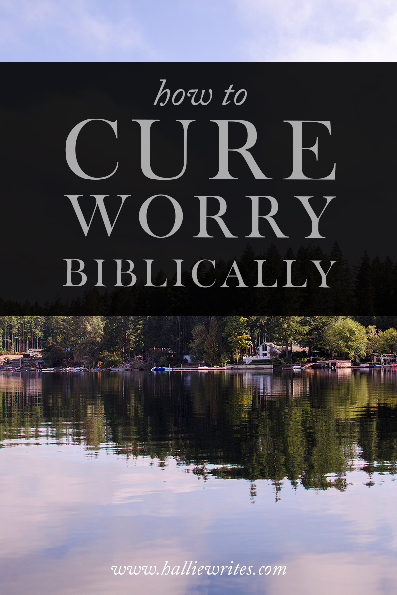 "This is the Biblical cure for worry. It's not a matter of ""Stop worrying!"" or ""Pray more!"", but as so many of the most difficult things are, it's a matter of the heart, and the heart's submission to  the character of God."