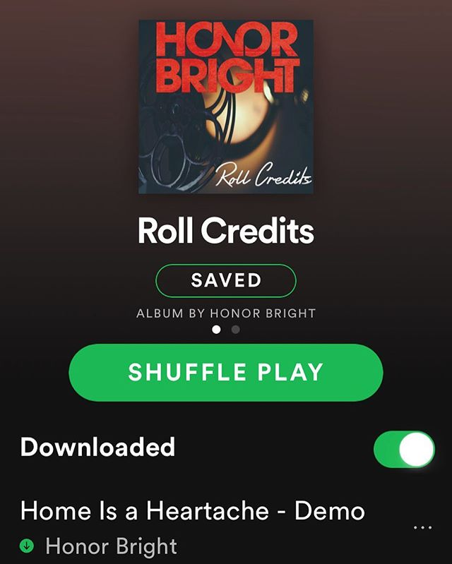 """Roll Credits"" is up on @spotify now so if you add any of the tracks to your playlists, let us know!"