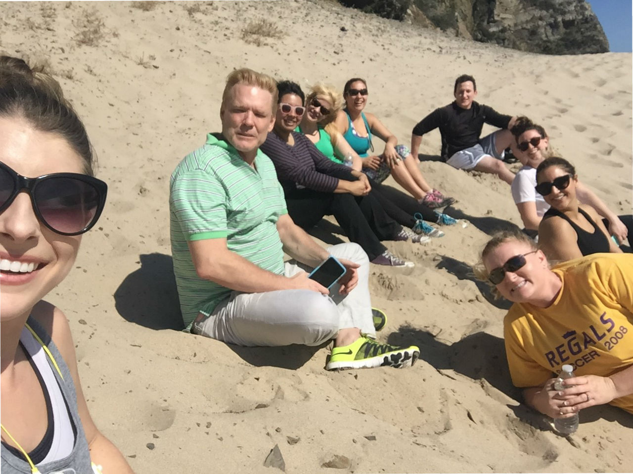 At Marketing Maven, having fun at work is built into the company culture. CEO Lindsey Carnett (bottom right) and her team keep things real by taking time together to celebrate their wins.