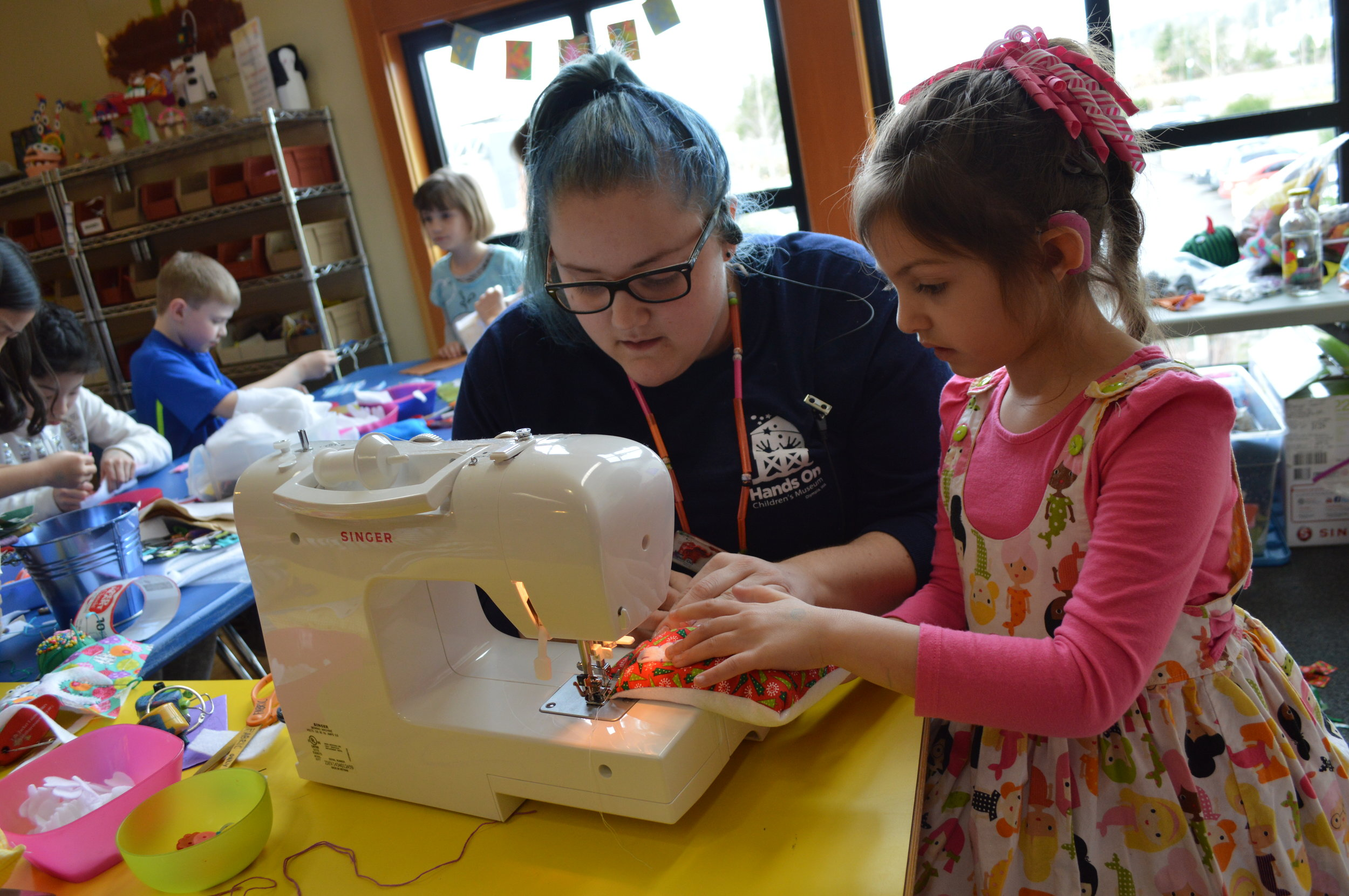 Kathryn's work has included projects with the Hands On Children's Museum in Olympia, where kids are given the chance to be Makers.
