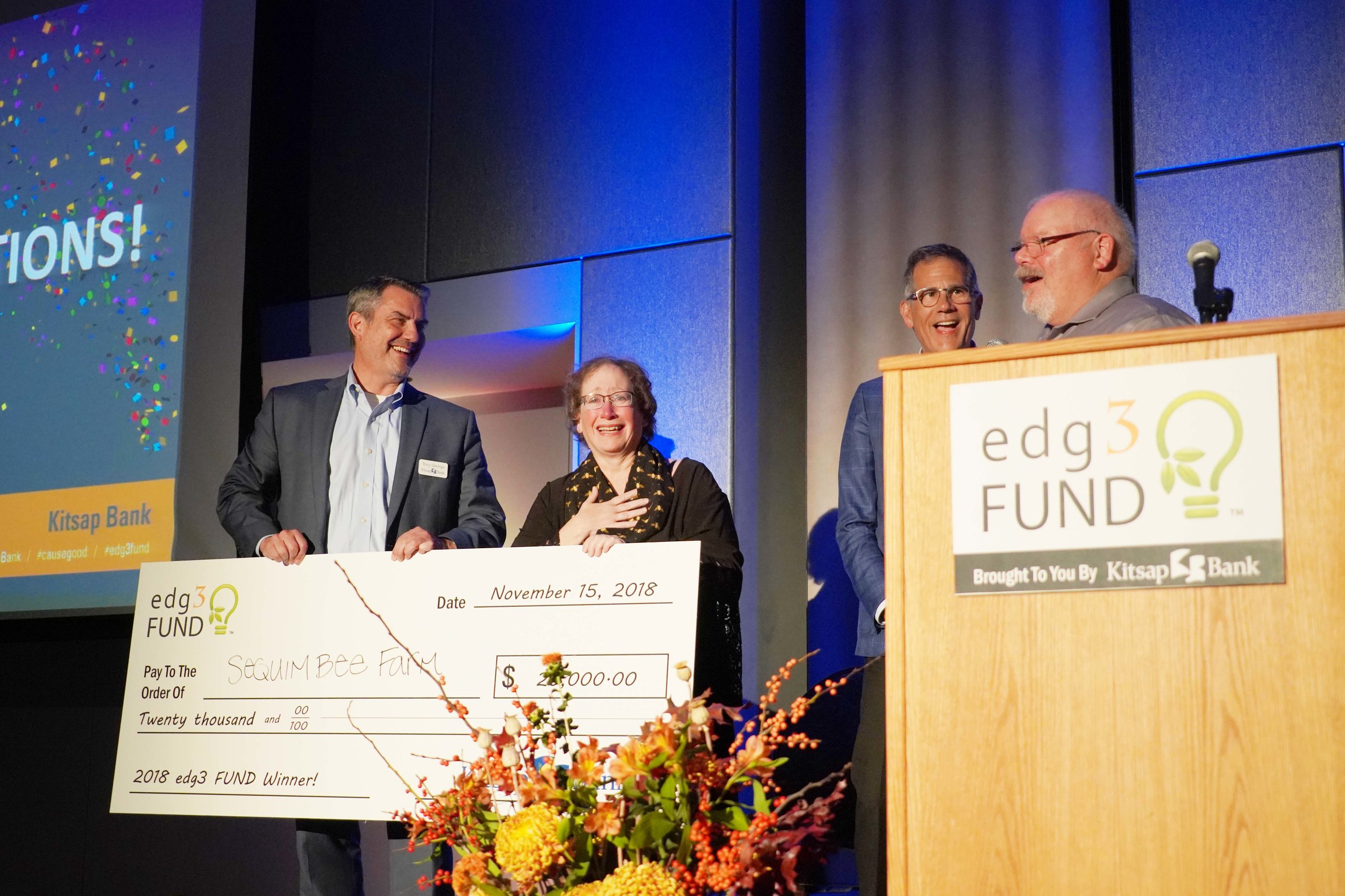 The Kitsap Bank edg3 FUND is the region's only small business competition to date that supports triple bottom line startups and small businesses—founders who demonstrate a proven commitment to people, profit and planet.