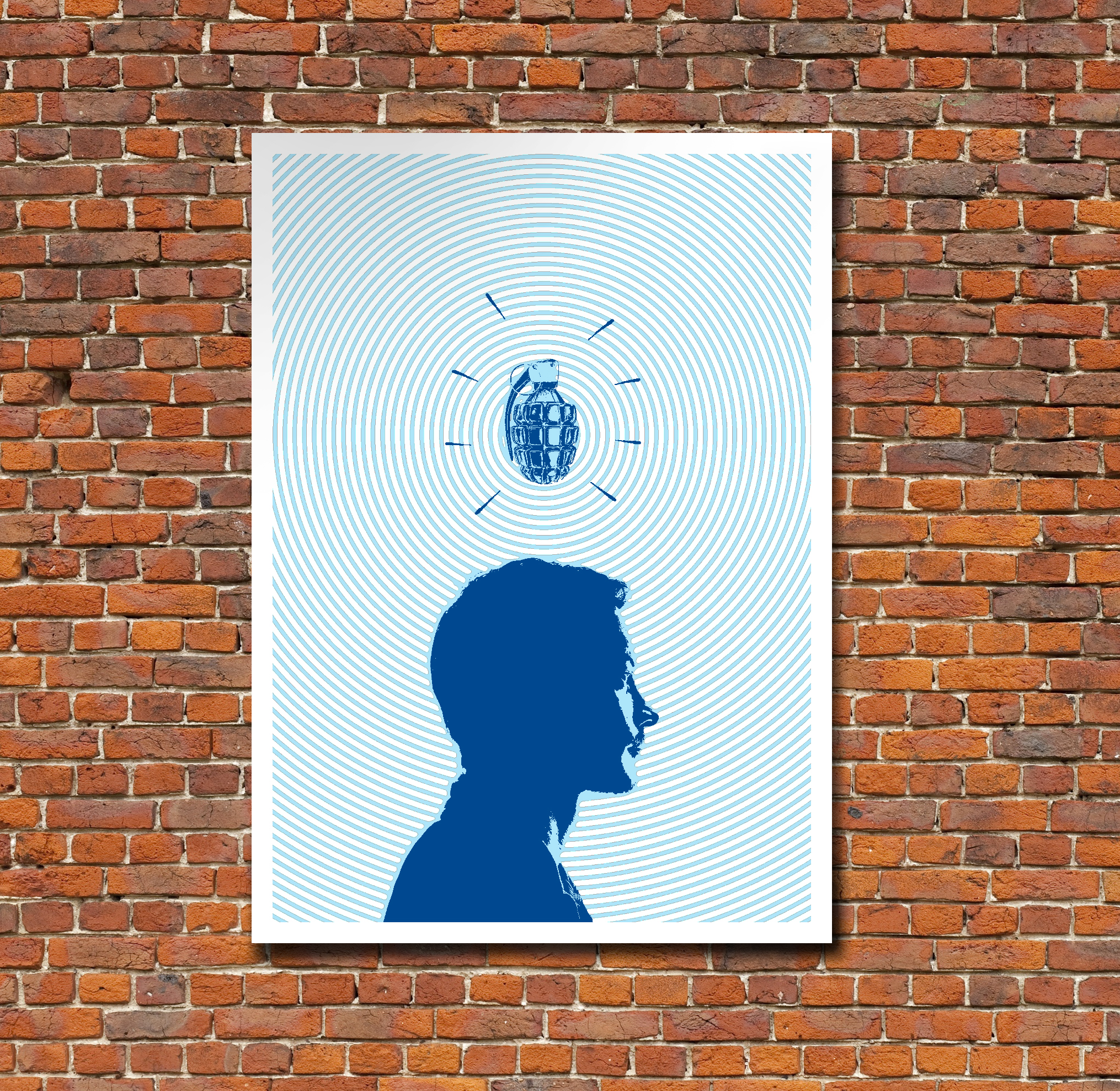 Ideas can be dangerous. This poster brings that to life.   Design/Illustration