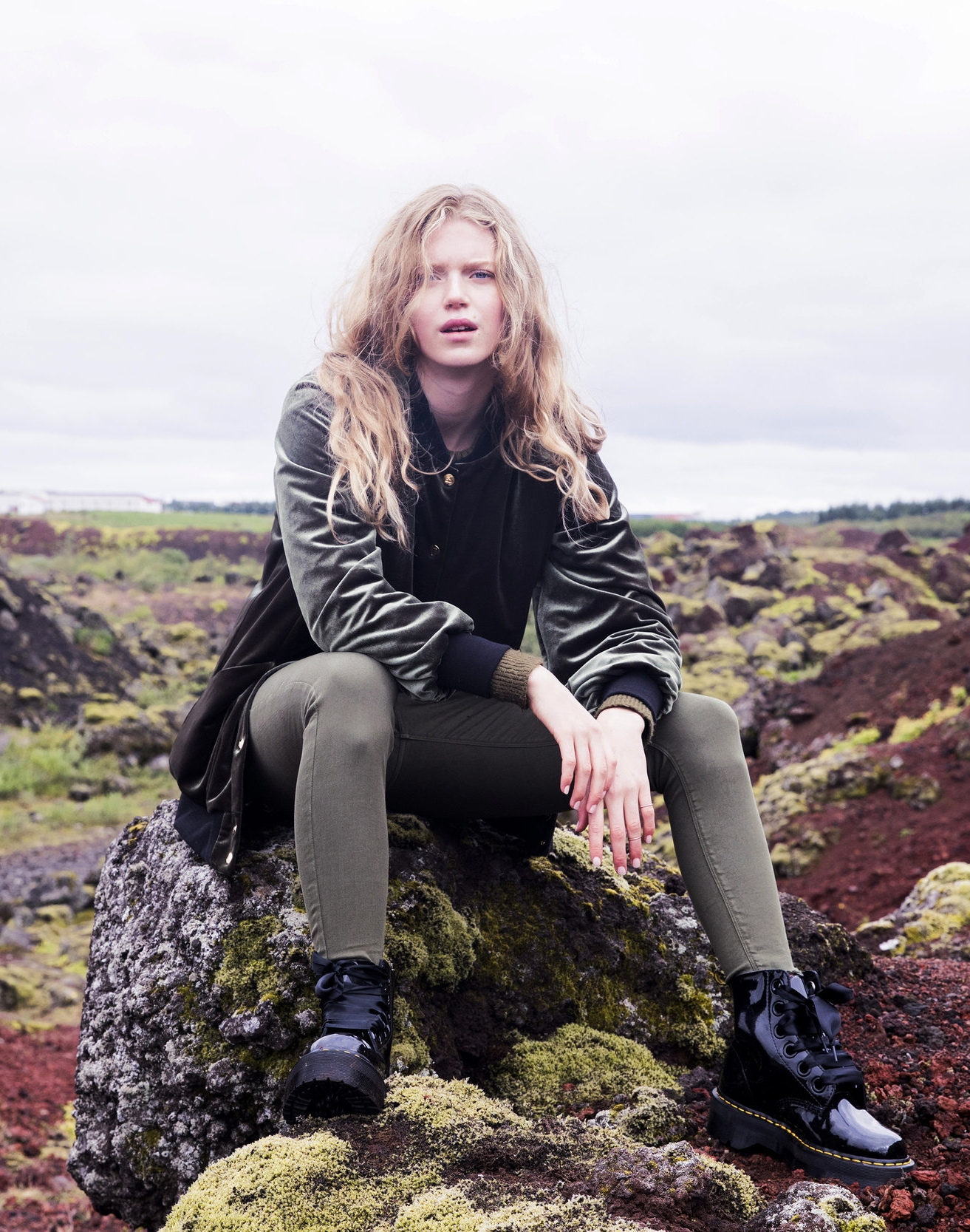 """""""Meet my alternative to those ubiquitous army green nylon bombers everyone else has. This is more glamorous, yet every bit as versatile. I styled it here on Liv as a monochromatic look to prove how easy it is to mix with other tones."""""""