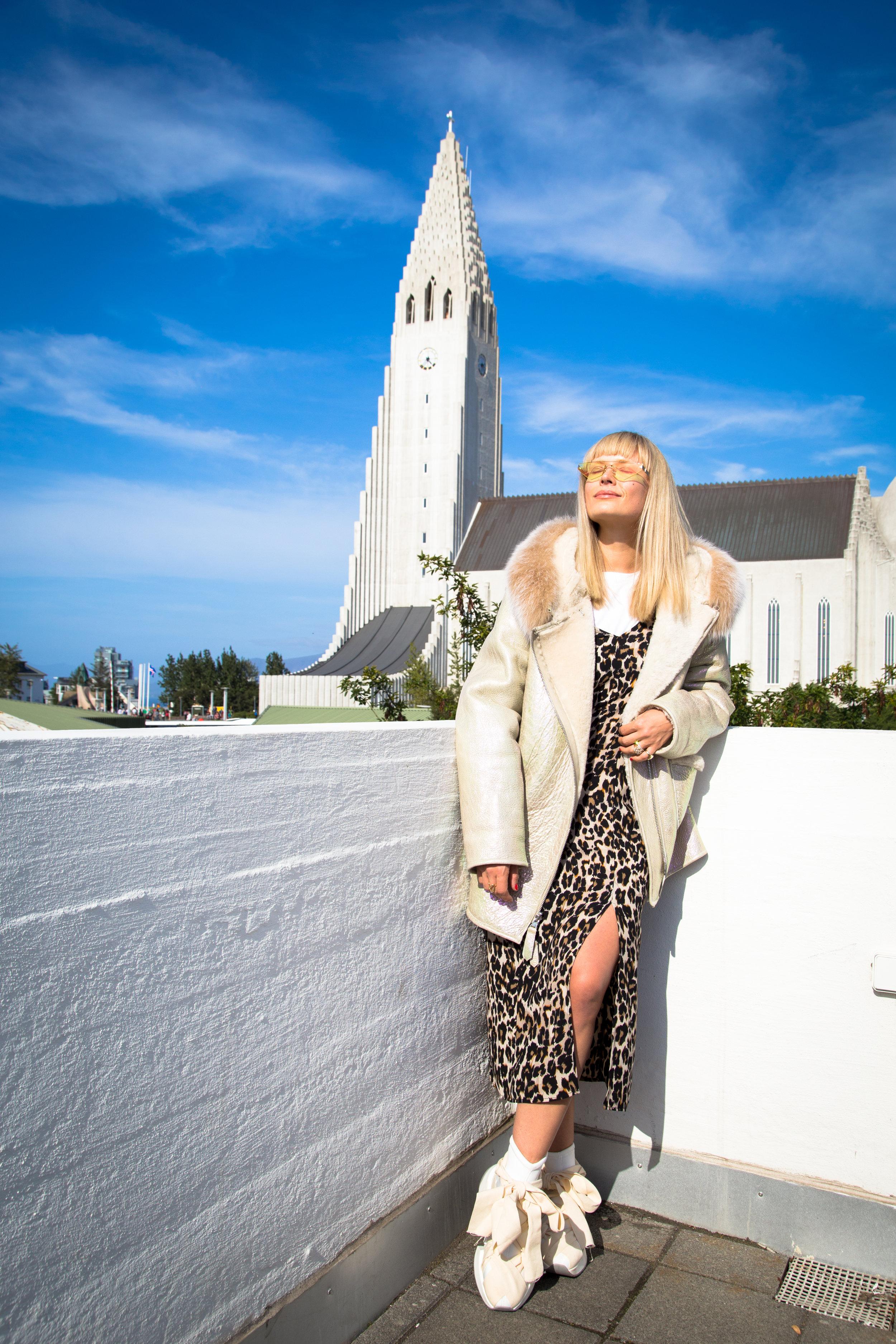 Mosha Lundstrom Halbert wearing Therma Kota in Reykjavik