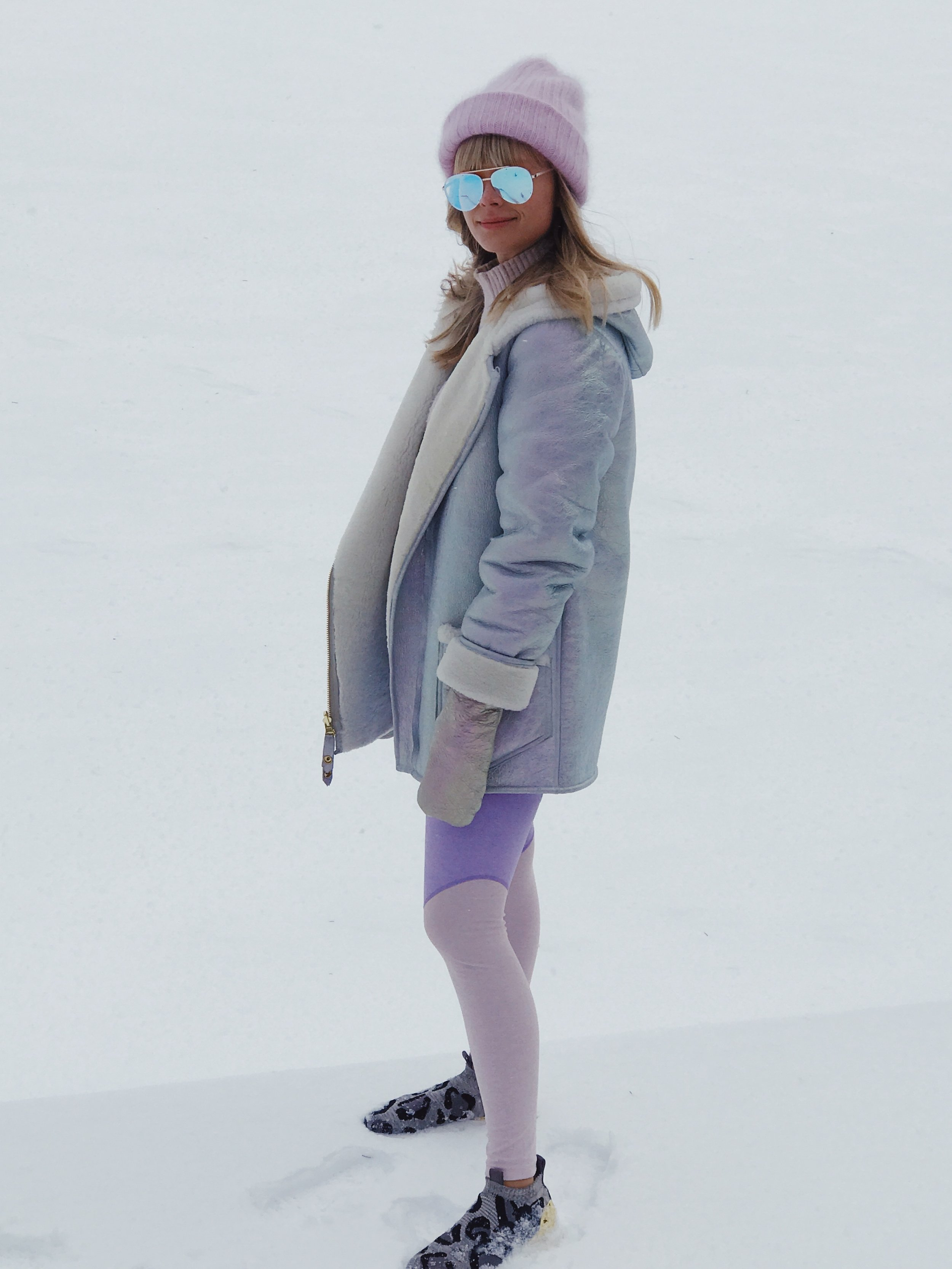 Mosha wearing Therma Kota Silja Shearling in Arctic Opal .JPG