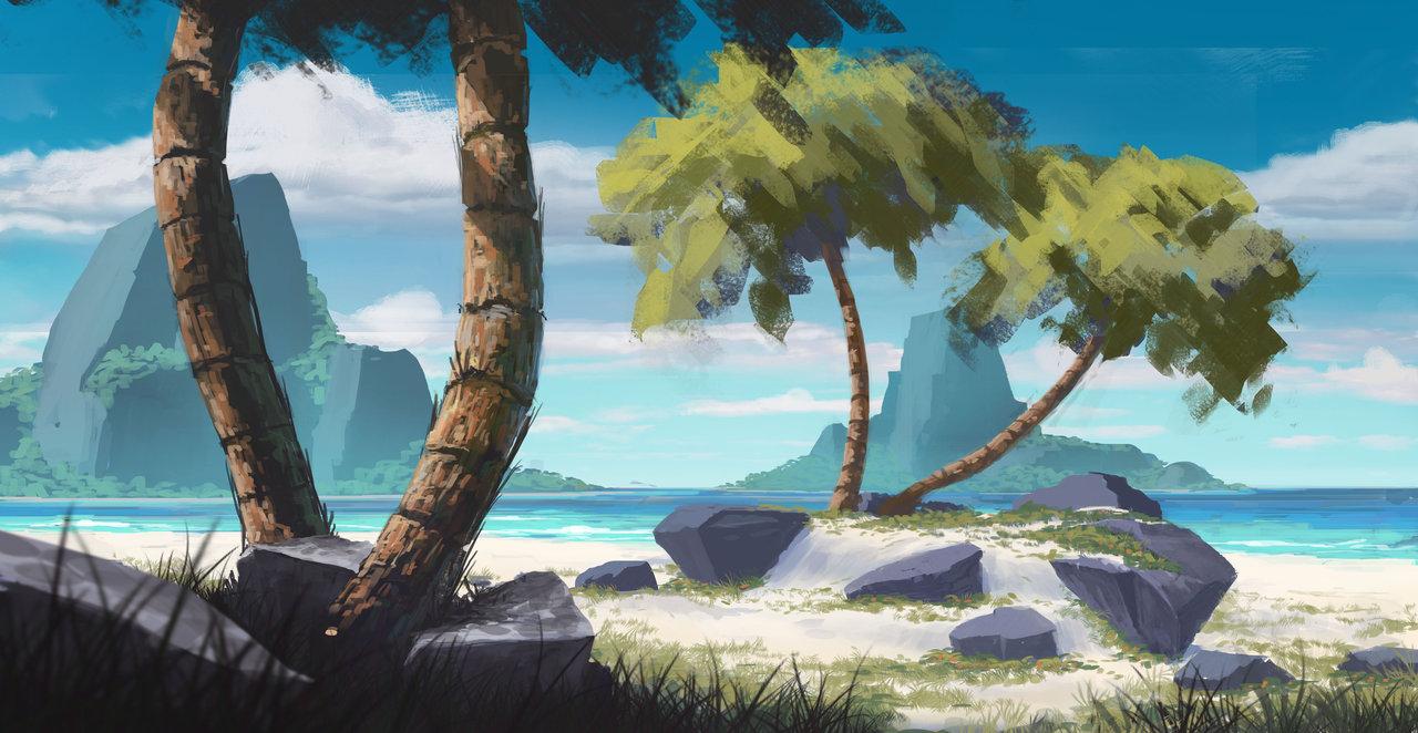 Tropical Beach by Tom Prante