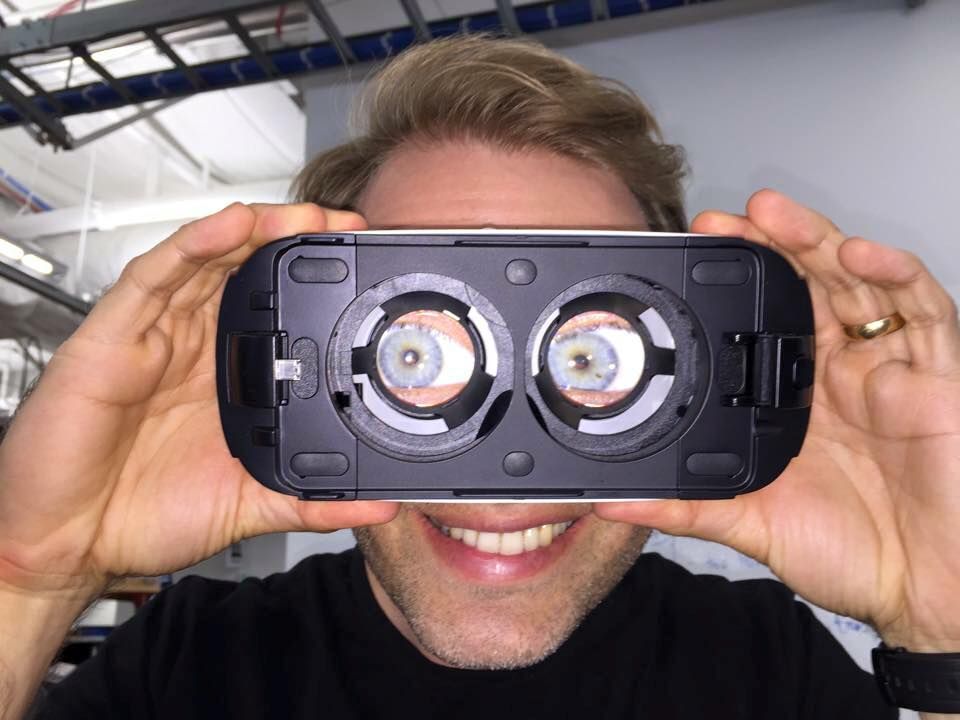 picture of petter with optical lenses