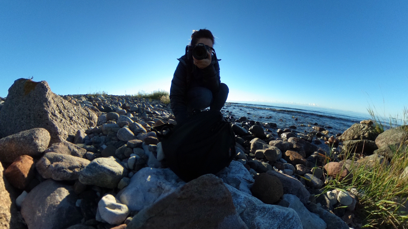 Me, capturing the break of dawn on Gotland in 360.