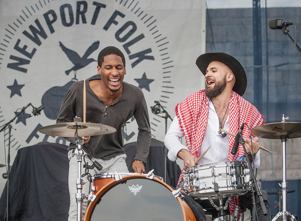 Jon Batiste, left, and Joe Saylor