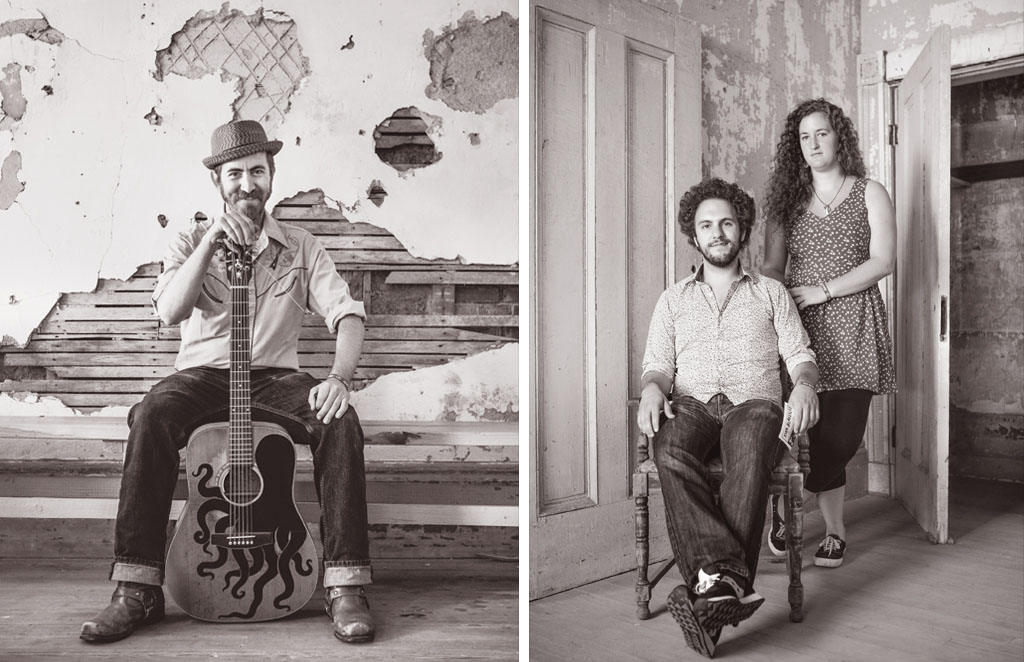 Left: Dan Blakeslee Right: Amato Zinno and Bessie Bessin of the Rhode Island-based Haunt the House