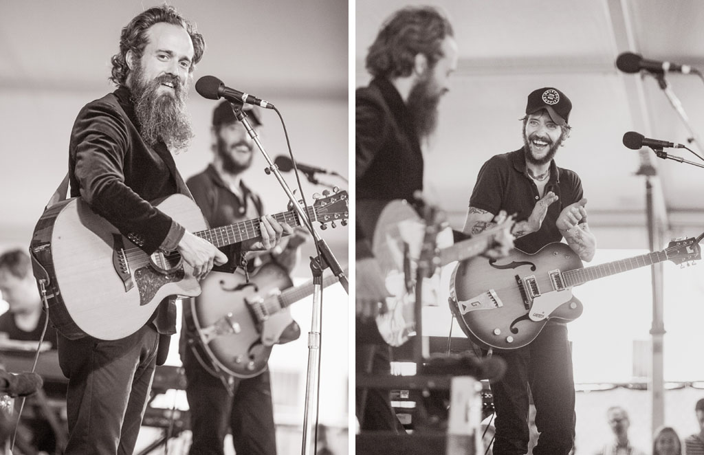 Childhood friends Sam Beam, of Iron and Wine, and Ben Bridwell, of Band of Horses, perform songs from their new album of covers  Sing Into My Mouth.