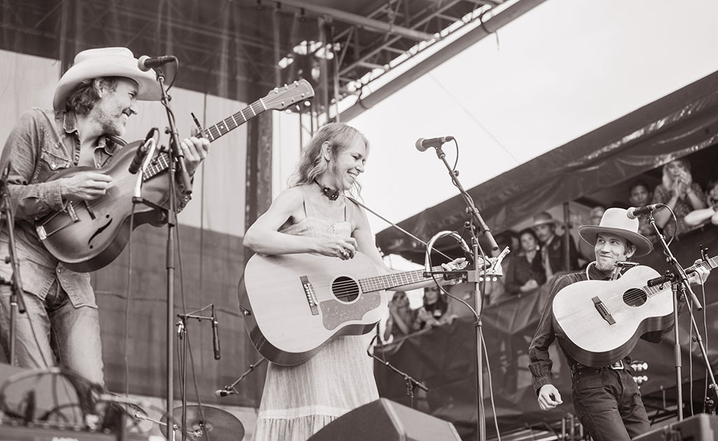 Dave Rawlings, Gillian Welch and Willie Watson