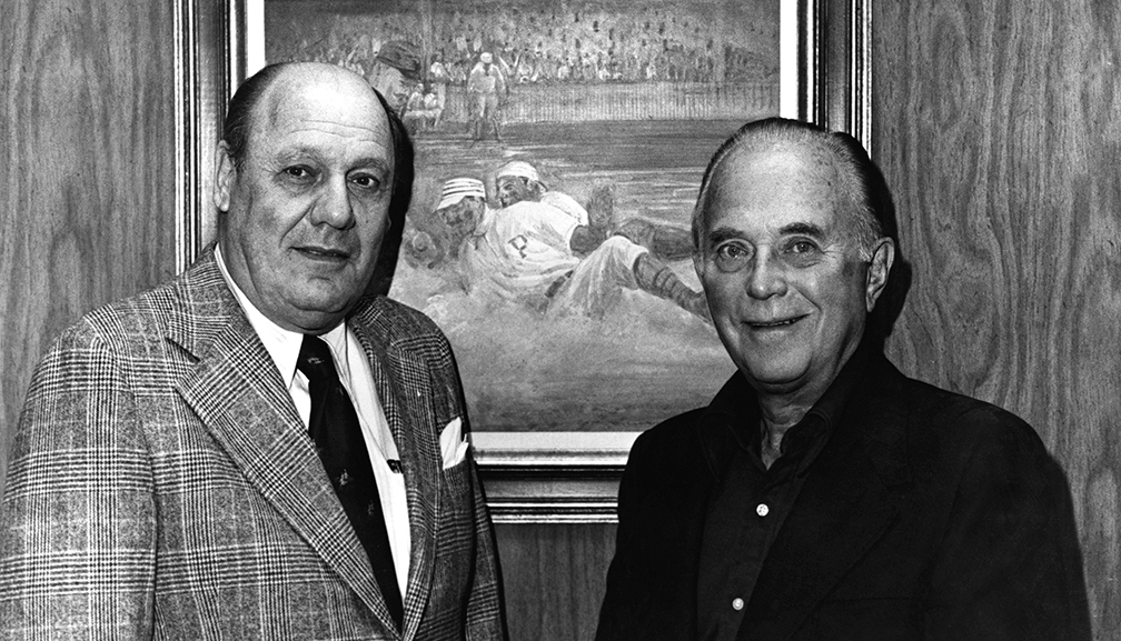Bavasi with Padres new Owner Ray Kroc. (R).