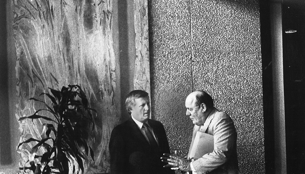 Bavasi with George Steinbrenner at the owners meeting.