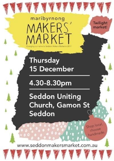 Our December Twilight Market 2016 poster designed by Susan