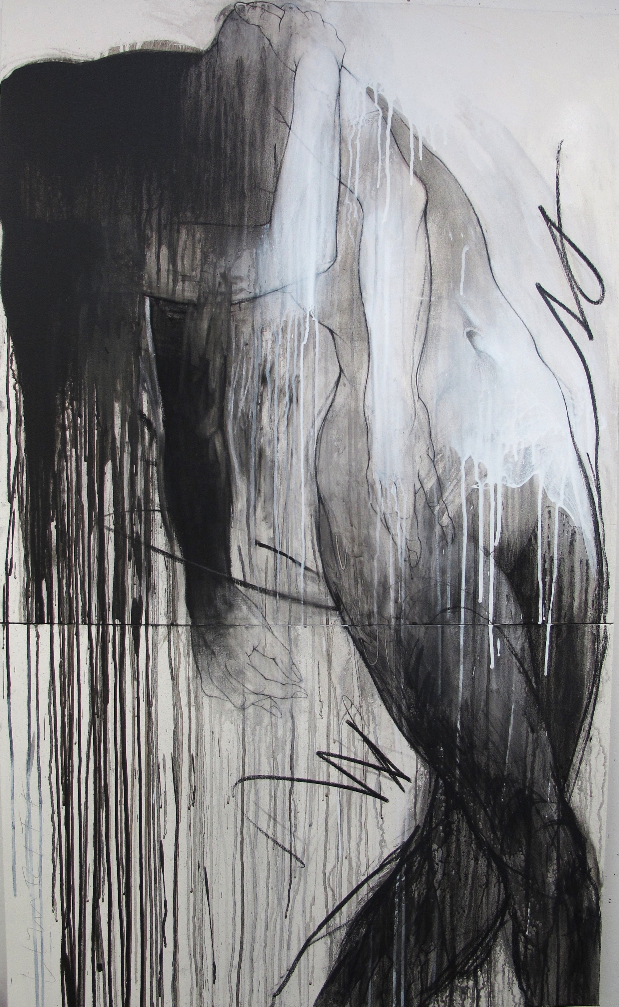 """Despite All The Twisting Of Truths, 60""""x 36"""", mixed media on canvas  ©2013 David Limrite"""