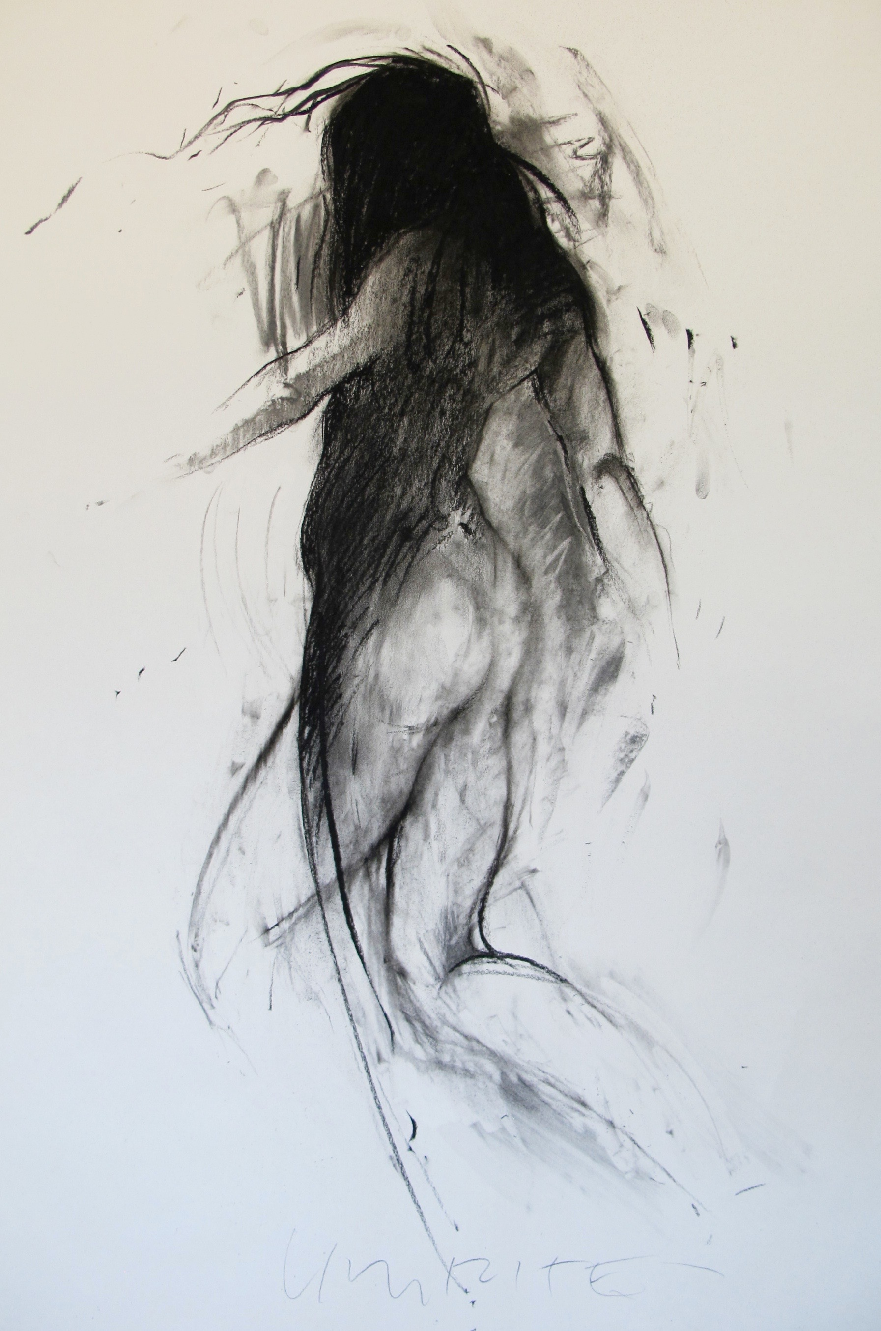 """""""Untitled"""", 36""""x 24"""", charcoal on paper, Copyright 2016 David Limrite"""