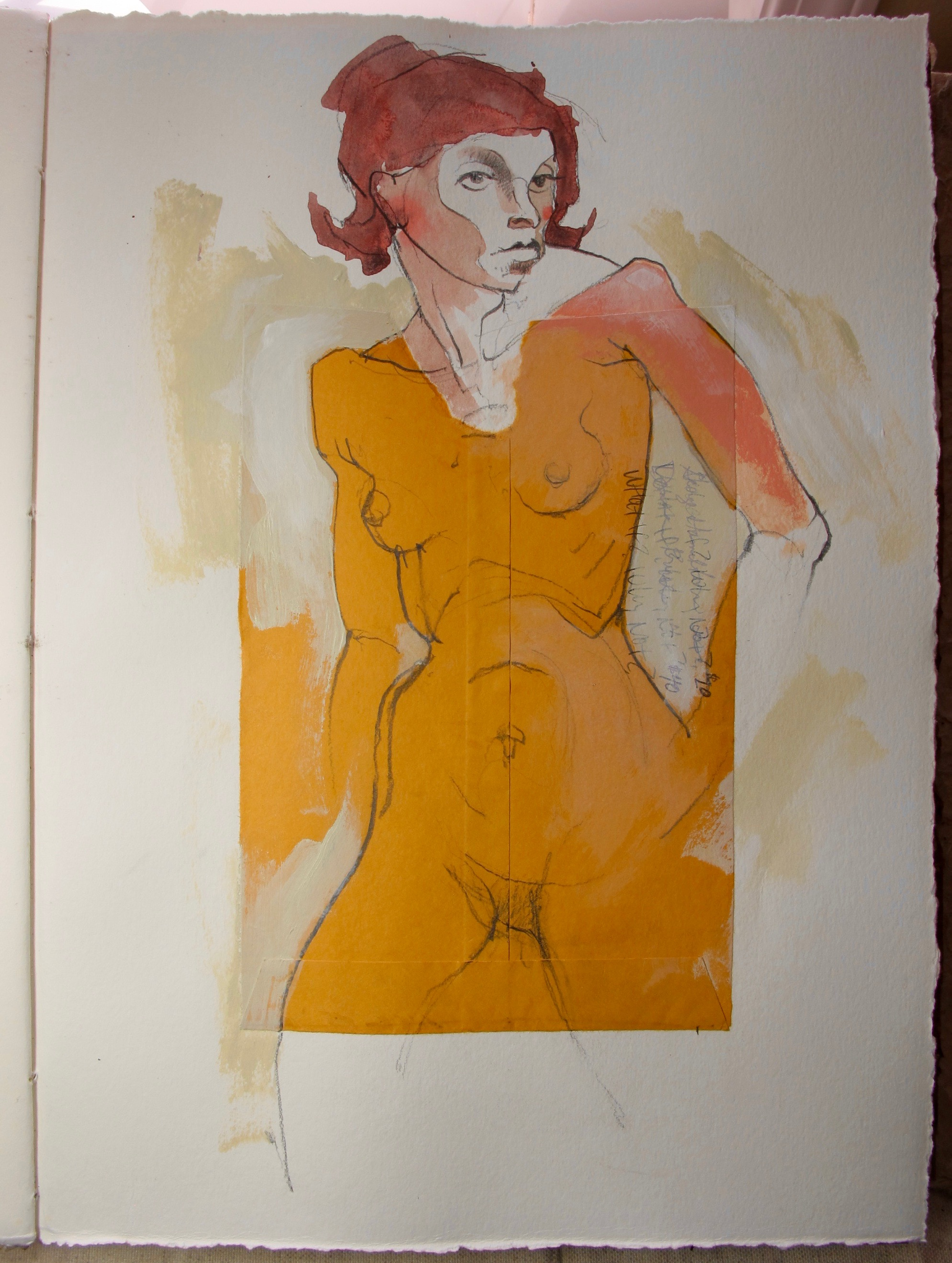 """Sketch from my current sketchbook project, 15""""x 11"""", mixed media on paper, Copyright 2016 David Limrite"""