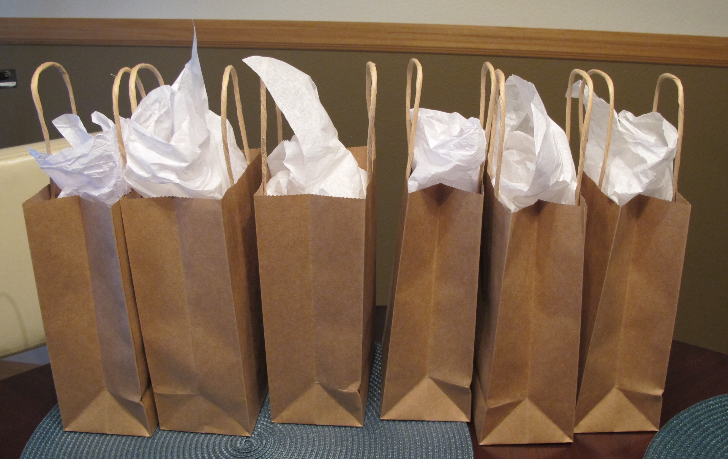 All of the artists participating in ELEVATE received gift bags at meeting #3. surprise!